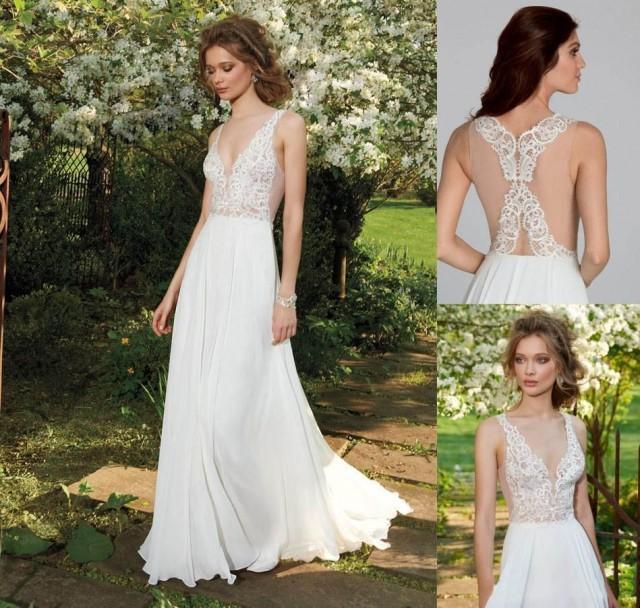 Tara Keely 2016 Bohemian Beach Wedding Dresses Sexy Deep V