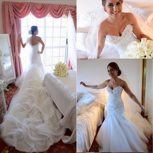 2016 Glamorous Custom Made Mermaid Wedding Dresses Sexy