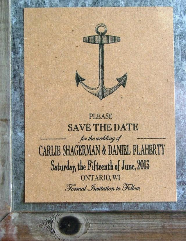 Nautical Save The Dates Anchor Save The Date Cards