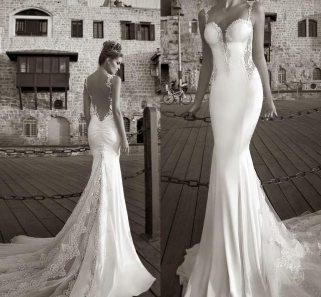 Best Selling 2015 Galia Lahav Summer White Lace Bare Back Wedding