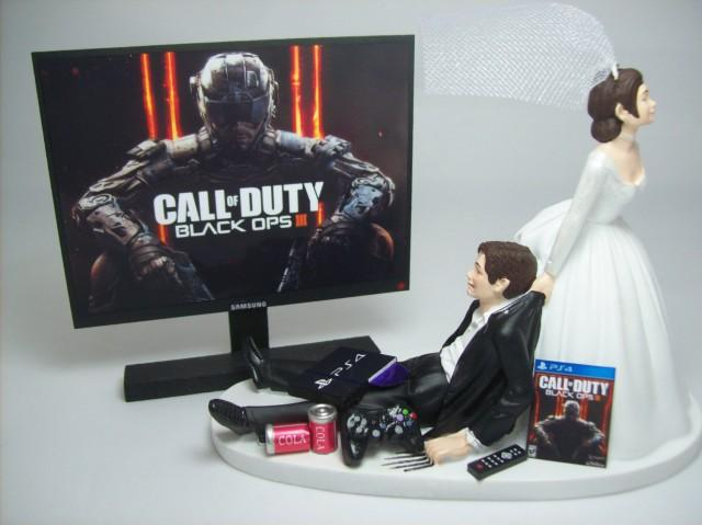 New Gamer Cod Op 3 Ps4 Brown Hair Bride And Groom Funny