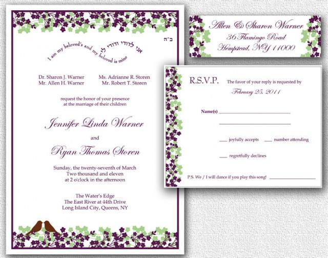 Return Labels For Wedding Invitations: Wedding Invitation, RSVP Card & Return Address Labels