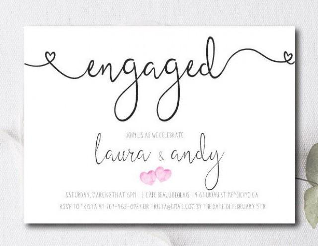 Engagement Party Invite Engagement Party Invitation Couples – Engagement Card Template