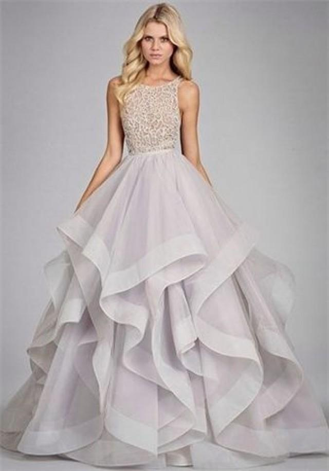 Long Prom Dress, Fluffy Prom Dress, Silver Gray Prom Dress,unique ...