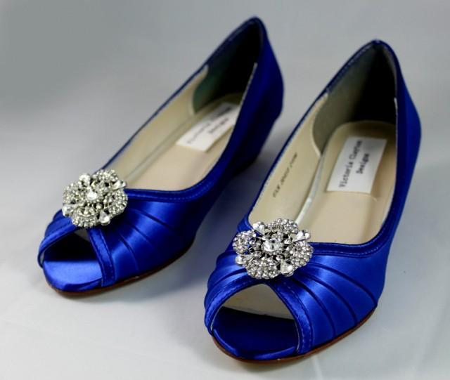 Coral Wedding Shoes Low Heel