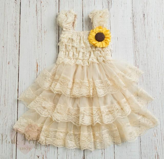 bc600f3a5e4 Rustic Flower Girl Dress