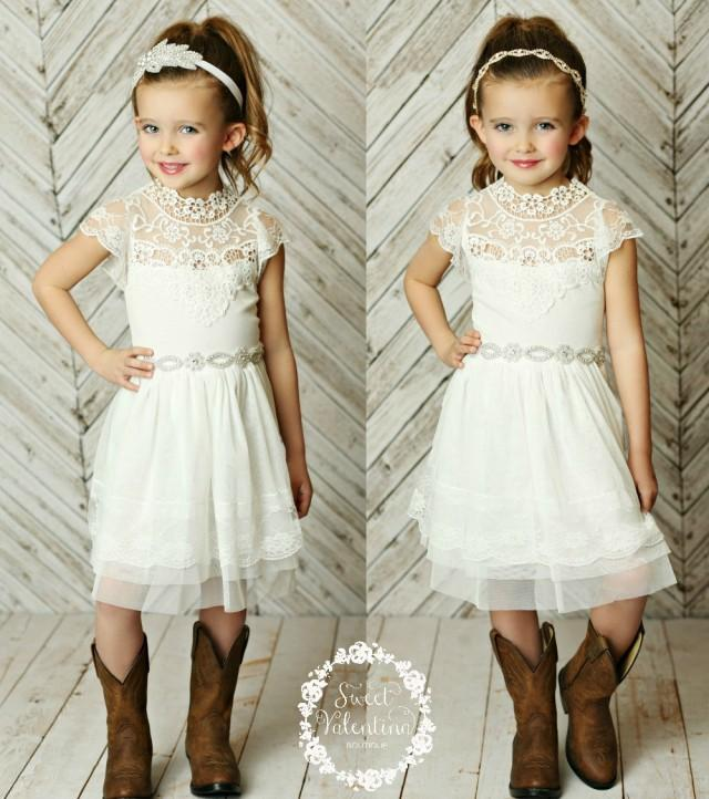 stunning flower girls dressrustic flower girl dress