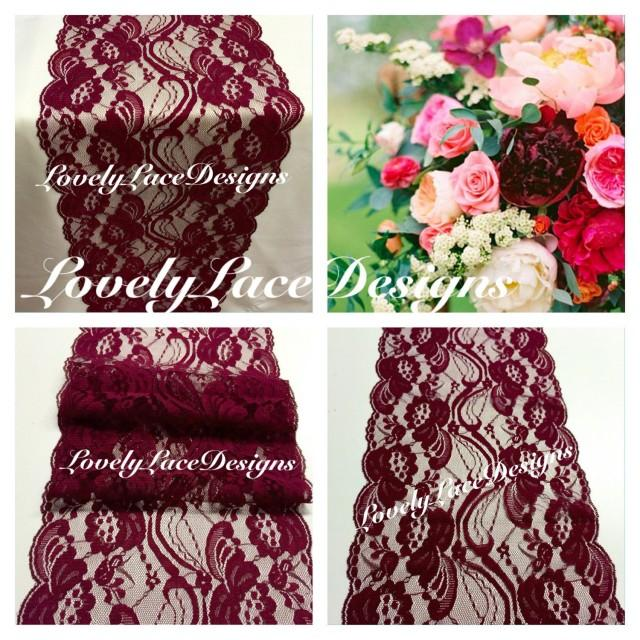 Burgundy Wine Lace Table Runner 12ft 20ft Long X 7 Quot Wide