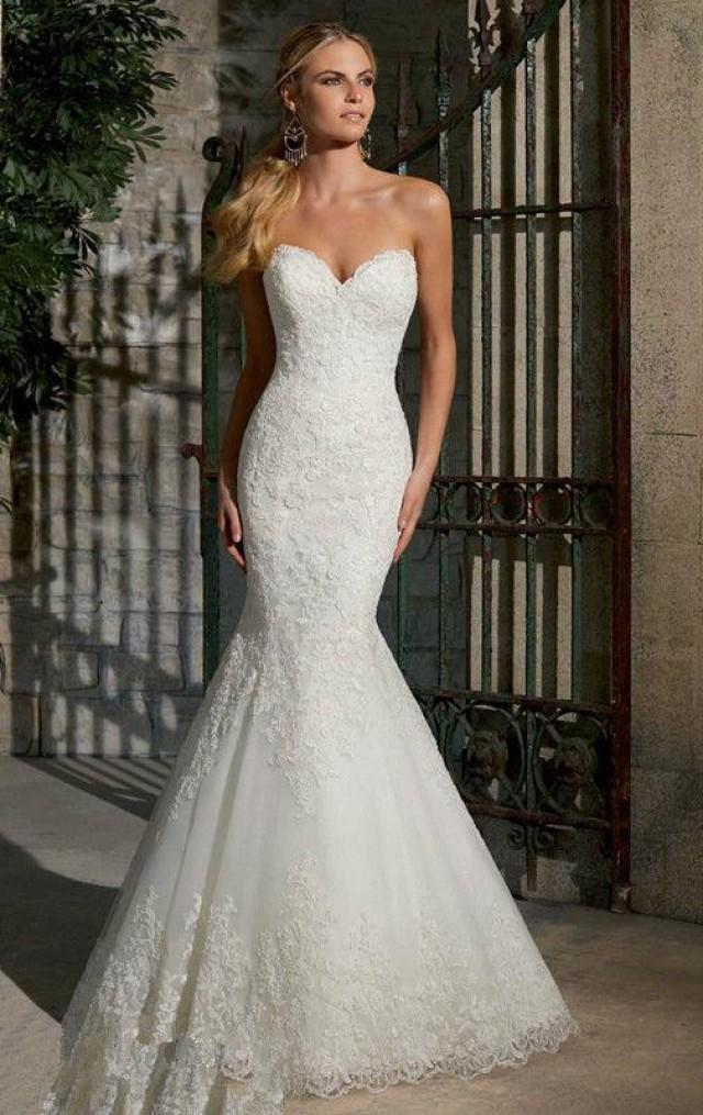 Charming fitted bodice mermaid wedding dresses 2016 appliques charming fitted bodice mermaid wedding dresses 2016 appliques sweetheart neckline bridal gowns lace tulle sweep train wedding ball online with 10838piece junglespirit Gallery