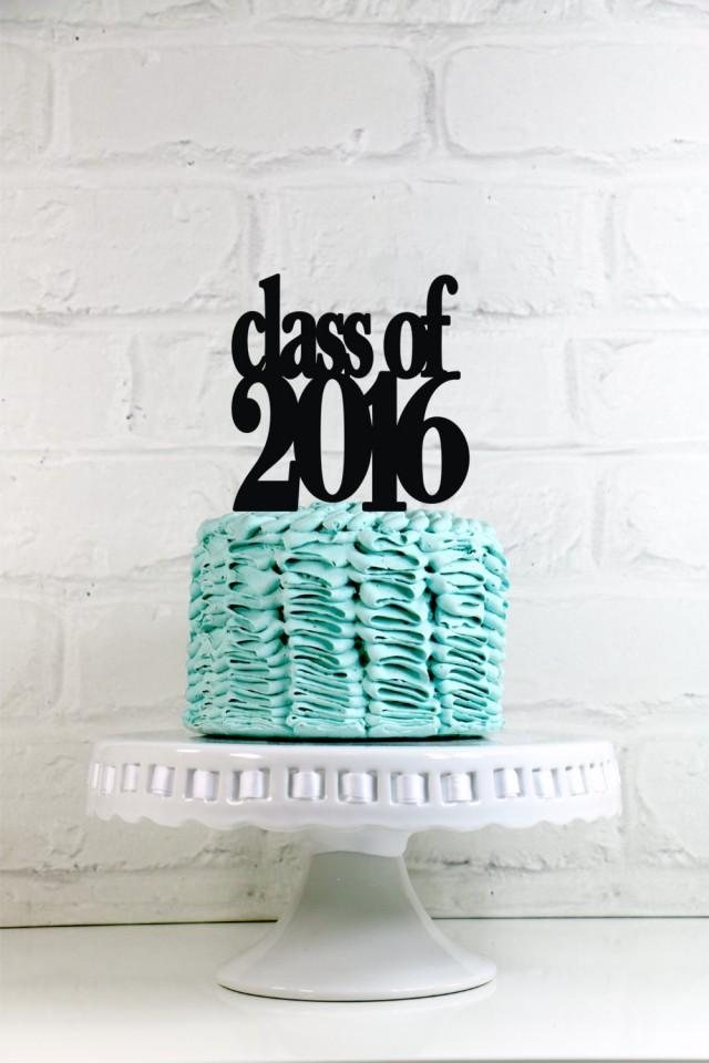Class Of 2016 Graduation Party Cake Topper Or Sign