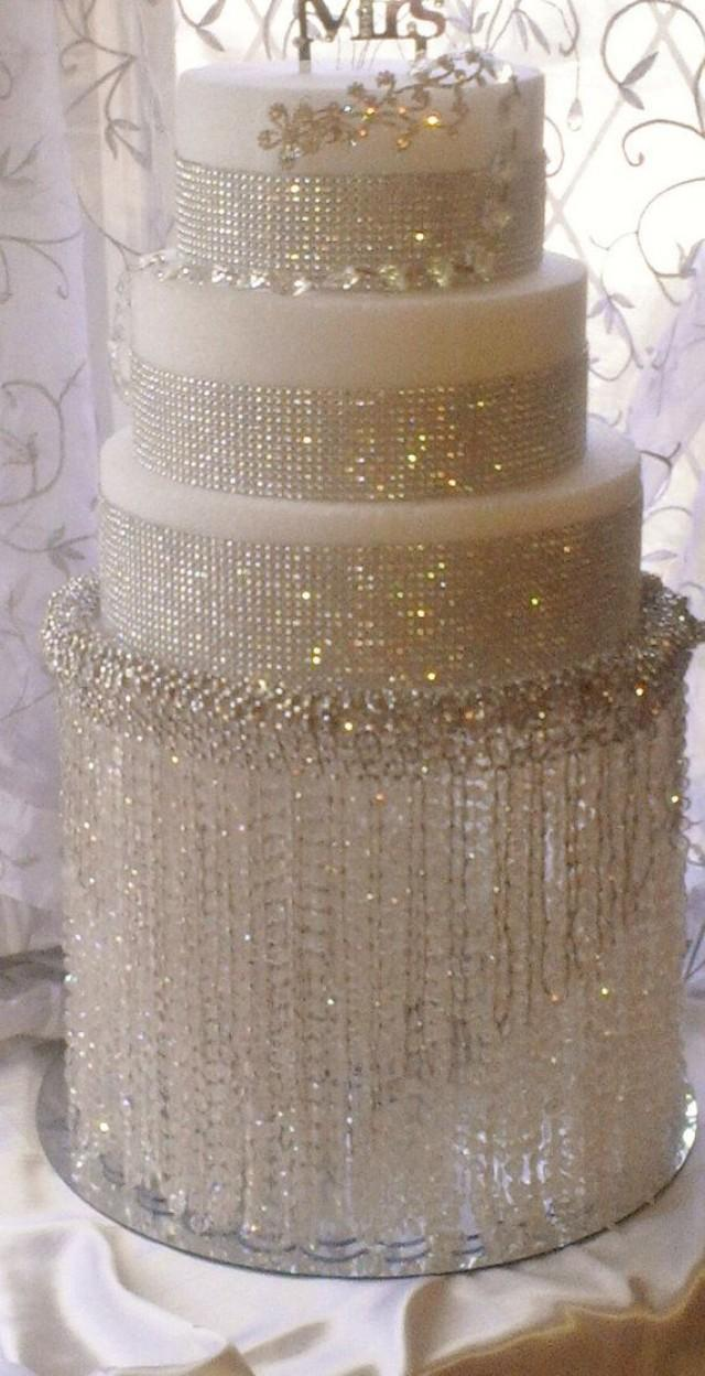 Wedding cake stand with crystals chandelier acrylic beads and wedding cake stand with crystals chandelier acrylic beads and stunning rhinestone cupcake stand dessert stand 2482656 weddbook arubaitofo Image collections