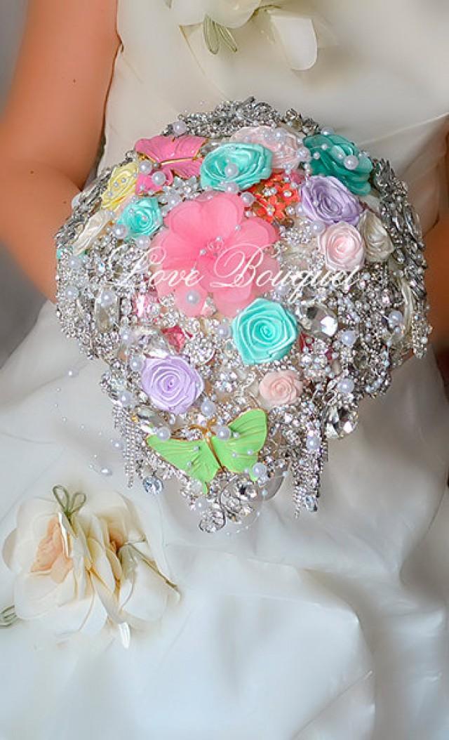 Sale Wedding Brooch Bouquet Bridal Bouquet Rhinestone Bouquet