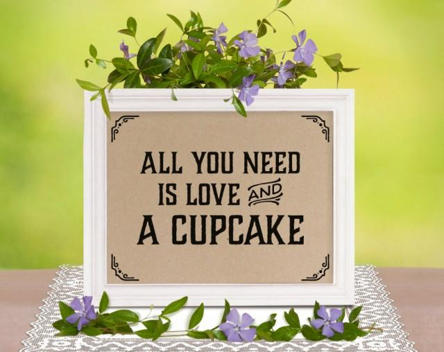 All You Need Is Love Wedding Invitations: Rustic Wedding Decor: All You Need Is Love And A Cupcake