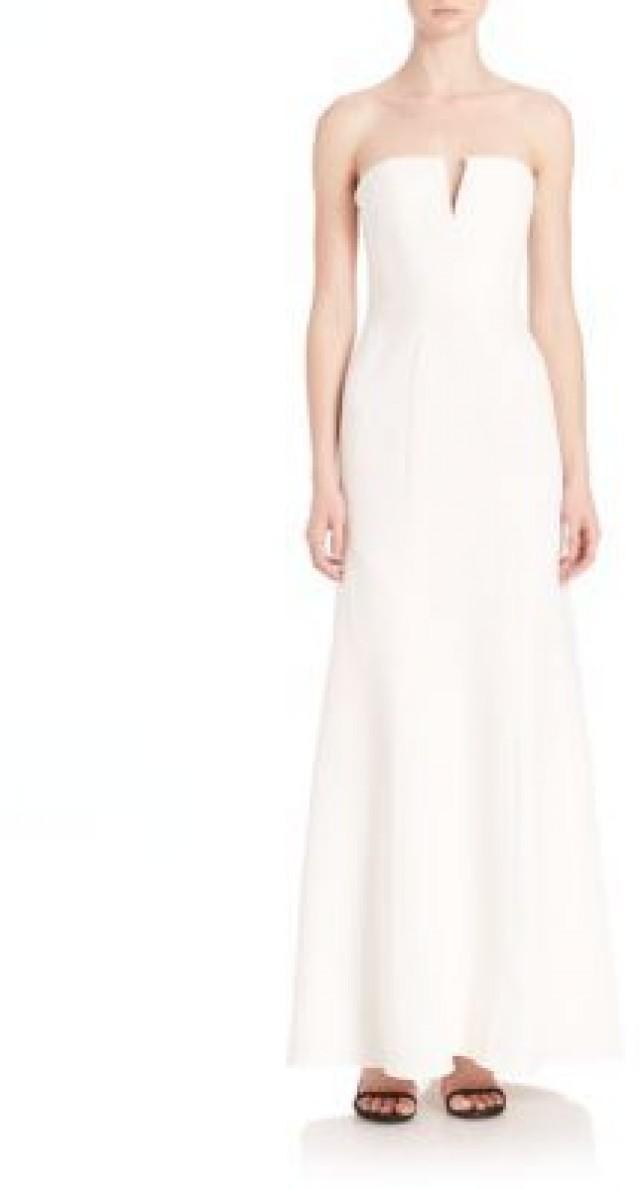 BCBGMAXAZRIA Michaella Strapless Gown #2483554 - Weddbook