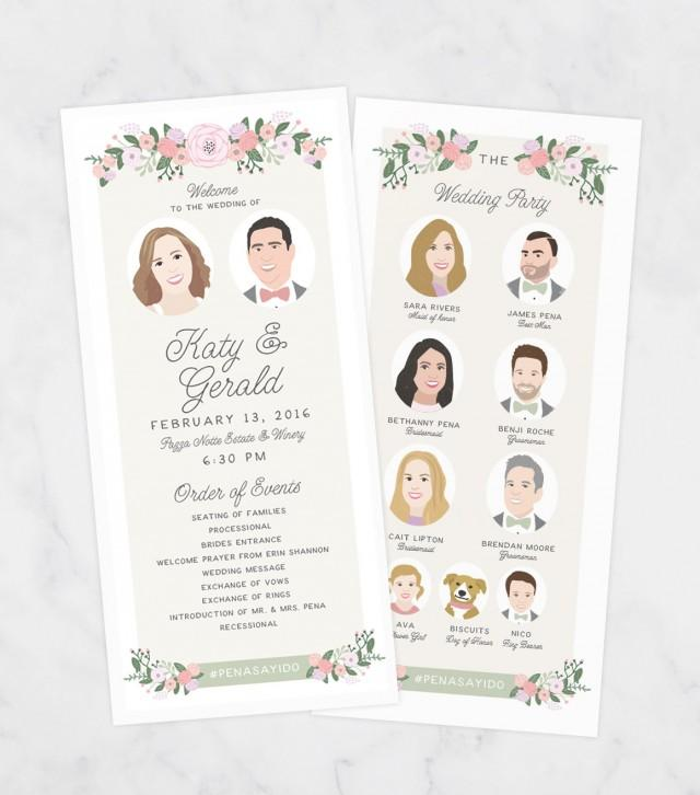 Unique Wedding Reception Program Ideas: Unique Wedding Program