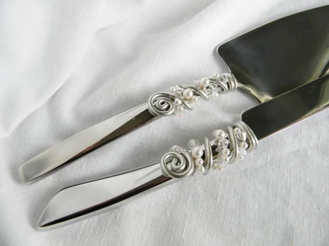 Crystal Cake Knife And Server Set
