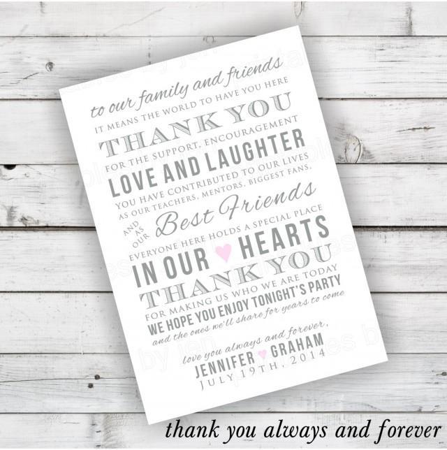 Diy Wedding Reception Thank You Card Printable 2485357 Weddbook
