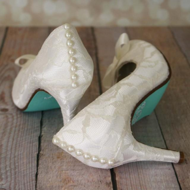 White Satin Shoes With Bow