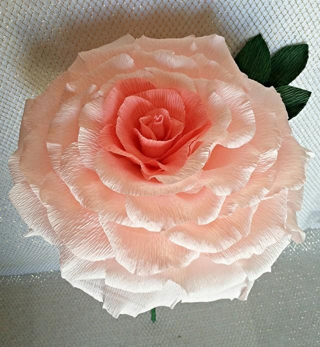 Giant paper flower pink paper rose large paper flower bridal giant paper flower pink paper rose large paper flower bridal shower wedding paper flower big paper rose uk giant glamelia bridal rose 2486964 mightylinksfo