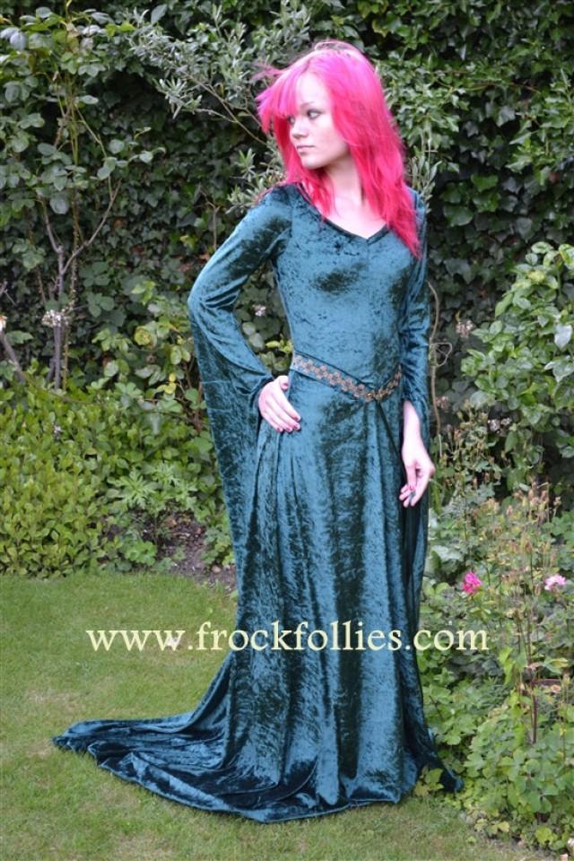 Anyon, An Embroidered, Celtic, Elvish, Pre-Raphaelite Wedding Gown ...