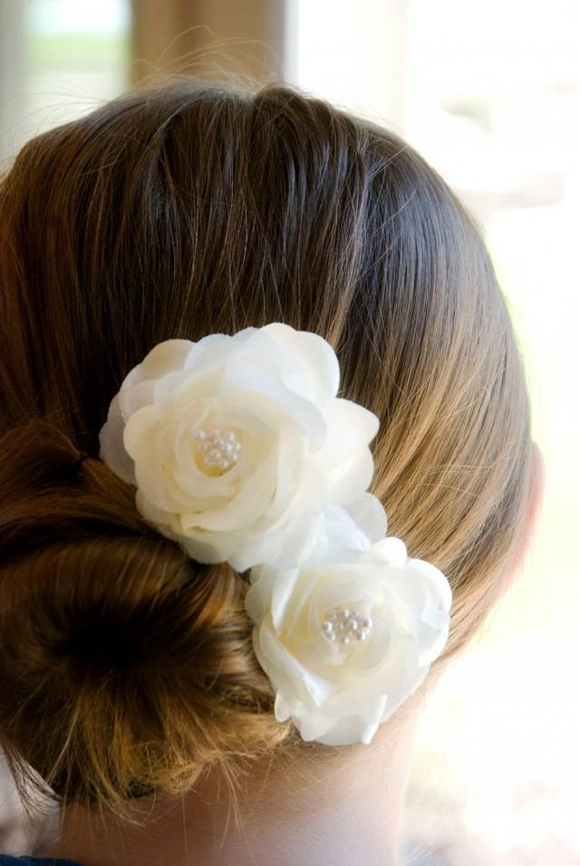 Цветок в прическу невесты своими руками