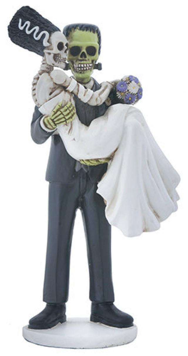 Spooky Wedding Cake Toppers