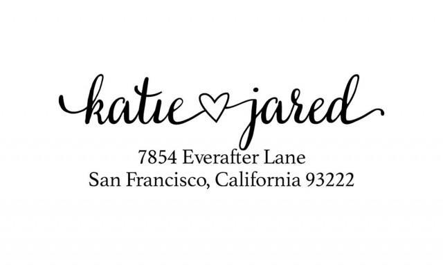 Address Stamp Wedding Invitation Stamp Calligraphy Stamp