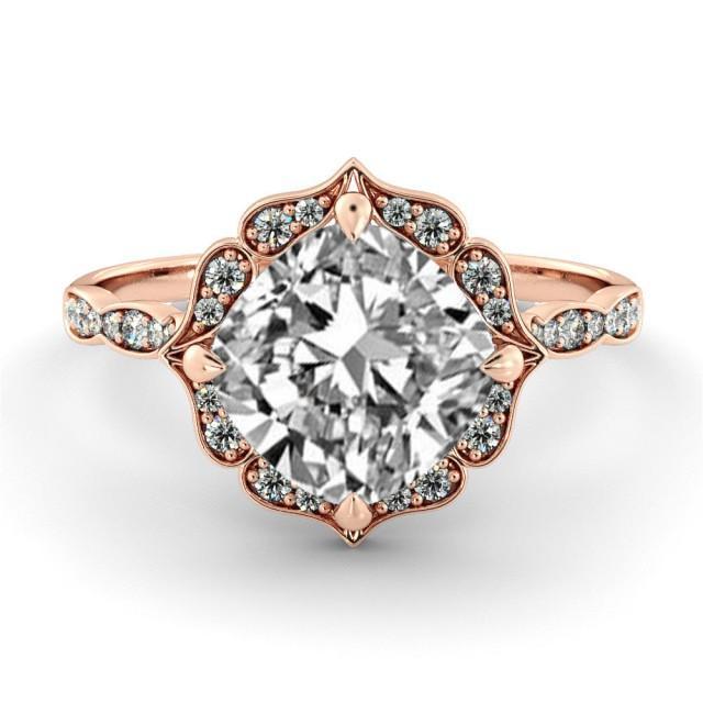 1 00 Ct Natural Vintage Vs Gia Certified Diamond Halo
