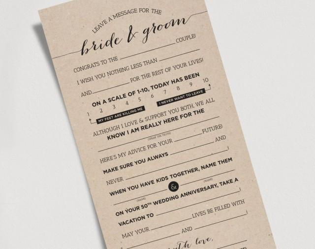 Wedding mad libs printable template kraft sign bride and groom mr wedding mad libs printable template kraft sign bride and groom mr mrs marriage advice keepsake 2487822 weddbook maxwellsz
