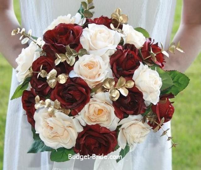 Wedding Theme Burgundy Bridal Bouquet 2488698 Weddbook