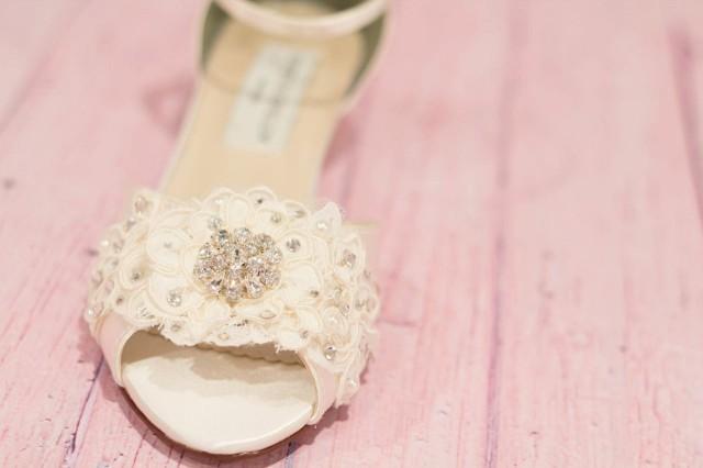 Wedding Shoe Wedge Lace Wedge Wedding Shoe Bridal Shoe Wedge