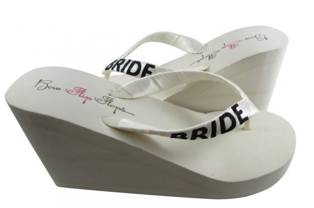 6c5fefbf30f0 Bride Wedge Flip Flops
