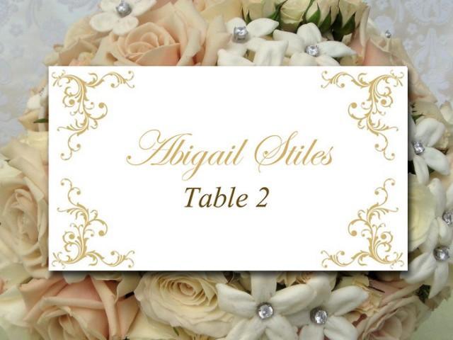 Diy Wedding Place Card Template Printable Escort Card Template