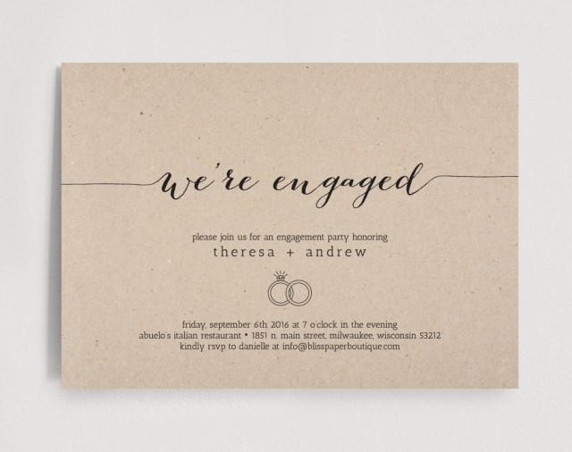 engagement party invitation we re engaged invitation editable