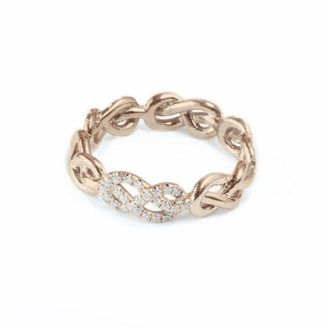 rose gold wedding band infinity knot ring diamond wedding ring unique rings womens wedding bands infinity ring gold 2490070 weddbook - Gold Wedding Rings For Women