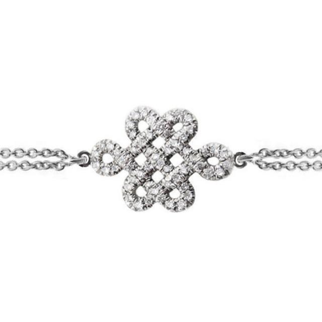 Endless Knot Diamond Bracelet Tibetan Symbol Of Endless Love