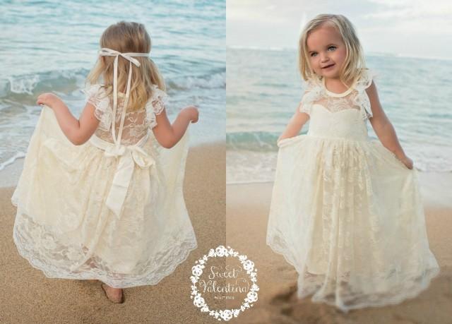 Lace Girl Dress, Flower Girl Dress, Flower Girl Lace