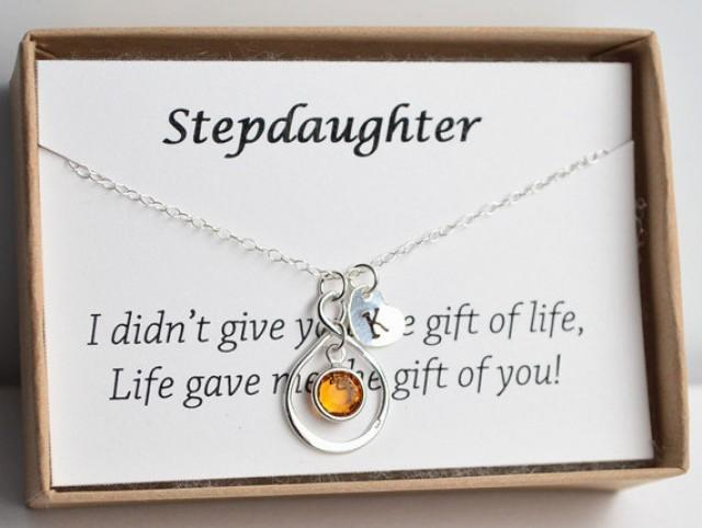 Personalized Stepdaughter Gift Necklace Birthday For New Wedding Stepmother