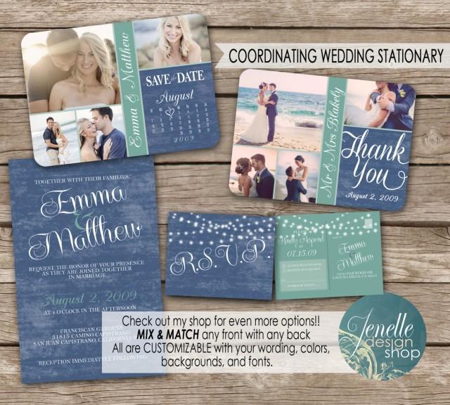 Beach Wedding Invitation Kit Save The