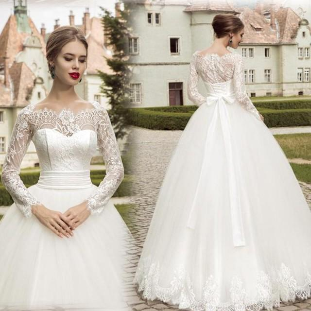 Spring brand new design vintage wedding dresses with lace for Designer brand wedding dresses