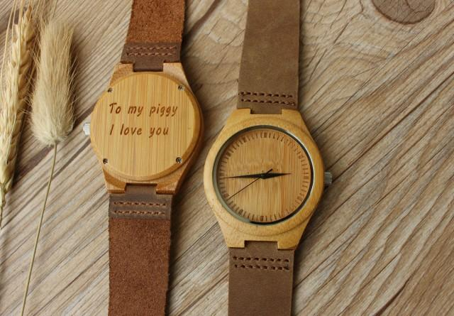 Romantic Gift Wooden Watch For Boyfriend Gift For Him