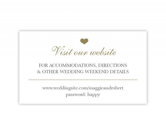 Wedding Gift Website: Wedding Website Cards, Simple Wedding Enclosure Cards In