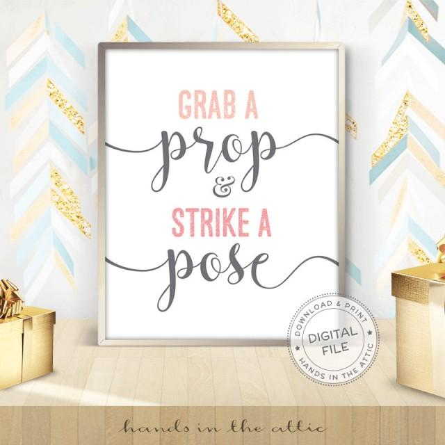 Grab A Prop And Strike A Pose Photo Booth Wedding Display