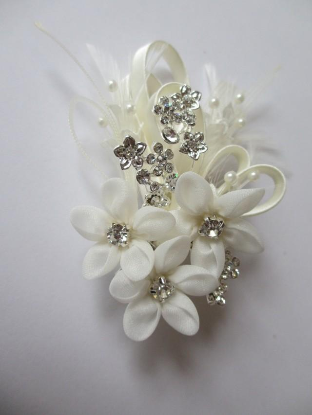 Floral hair comb forget me not bridal hair combs wedding hair floral hair comb forget me not bridal hair combs wedding hair accessories elegant swarovski crystals pearls feathers and silk flowers 2493813 mightylinksfo