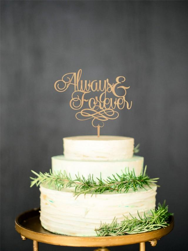 Forever And Always Silver Cake Topper