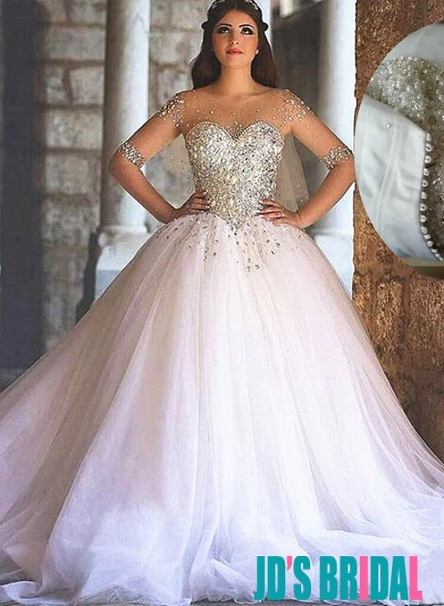 Sparkly sweetheart tulle princess wedding dresses 2494235 weddbook junglespirit Image collections