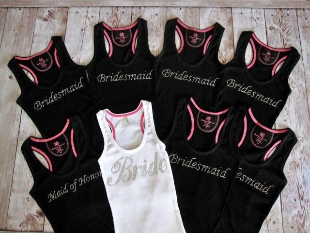 8 Bride Bridesmaid Tank Top Shirt Matron Of Honor Maid