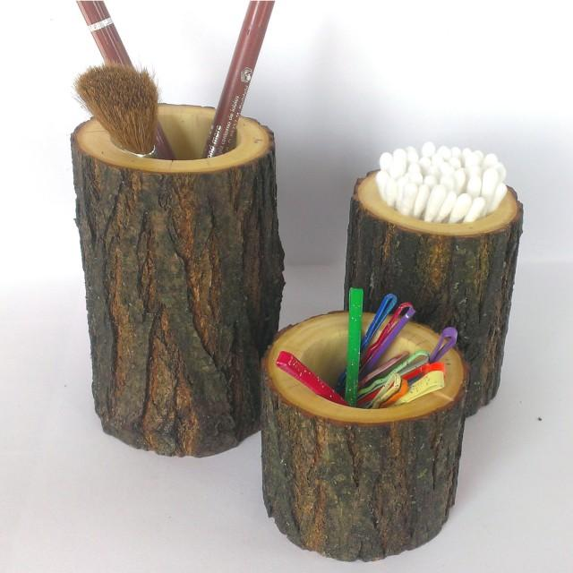 rustic bathroom decor rustic bathroom accessories set of 3 holder toothbrush holder knick knack holder bathroom decor gift wood decor
