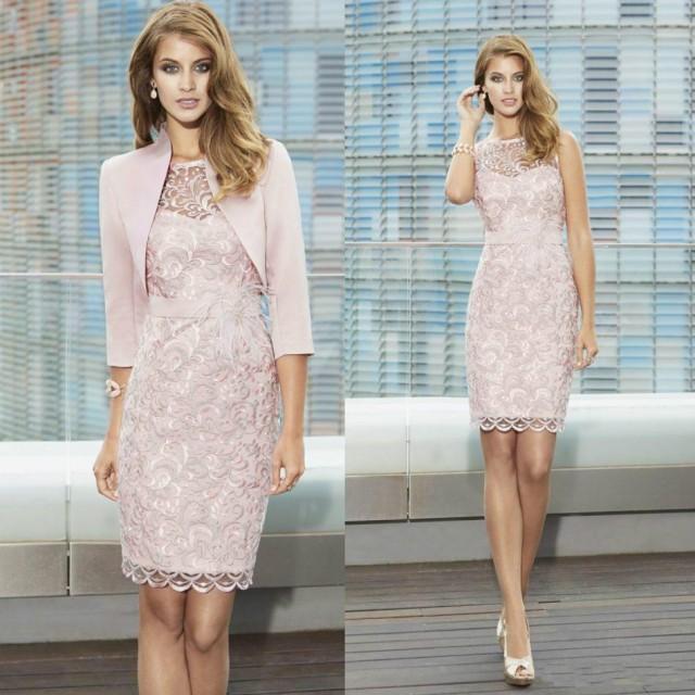 Fashionable Sheath Lace Mother Of Bridal Dresses With Jacket 2016 ...