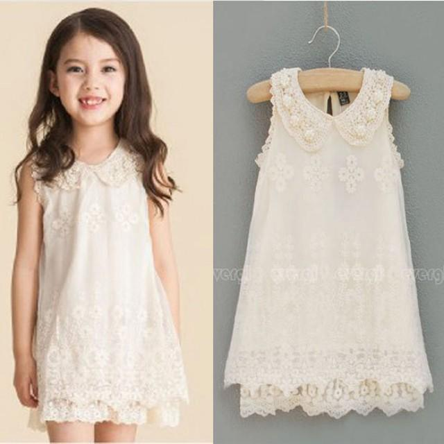 Ivory flower girl dress country wedding dress vintage for Country wedding flower girl dresses